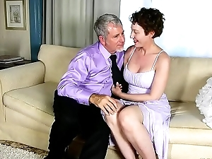 Gaffer sexy old spunker sucks &amp_ fucks for a mouthful be advisable for cum