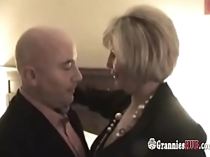 Curvy Busty Granny With the addition of Her GILF Friend In Threesome