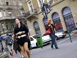 Nice girls on the streets, public transport - boobs, legs, cleavage