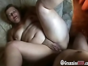 Blonde BBW Granny Gets Spanked And Fucked In The Ass