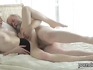 Cuddly schoolgirl is seduced and drilled apart from her elder mentor