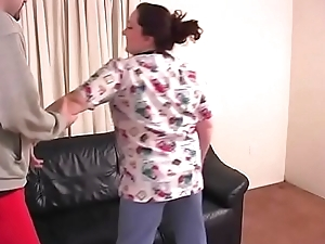 Spanking Roleplay - Chubby bbw slut gets spanked and sucks dick - JustBangMe.com