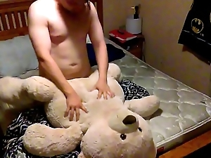 Fucking my sexy bear on my sisters bed