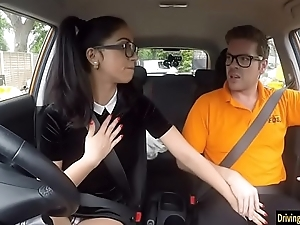 Julia De Lucia with glasses gets screwed
