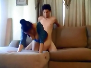 Amateur wife fucked by younger boy