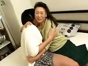 Japanese Asian Mature Mom loves her Sons Dick in her Puyy