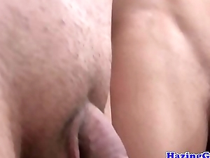 Anally drilled twink plowed during pledging