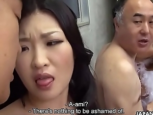 Two Japanese wives get screwed and facialized around the corner hand in hand