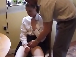 schoolgirl spanked and fucked
