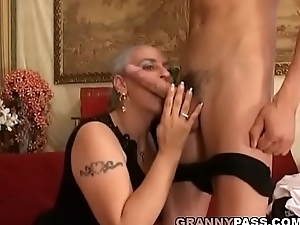 Granny Expereinces Anal With Young Huge Weasel words