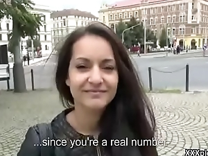 Public Pickup Girl Seduce Tourist Be worthwhile for Fuck And Money 20