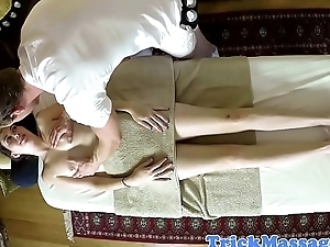 Deepthroating massage amateur gets filmed