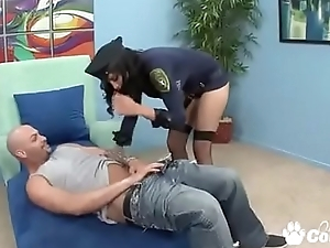 Busty Cop Lacey Cruz Wraps Her Big Clit Around Her Perps Cock
