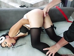 Exotic MILF analyzed by master in the living locality