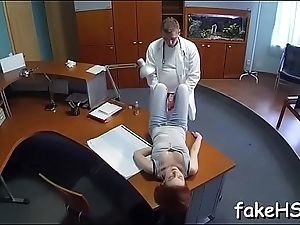 At finishing touch hot doctor reaches orgasm