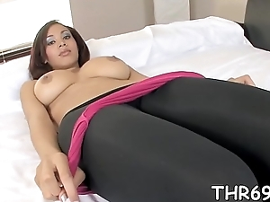 Wild deepthroating from cute tantalize