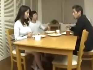 Cheating Japanese Mom with her Son