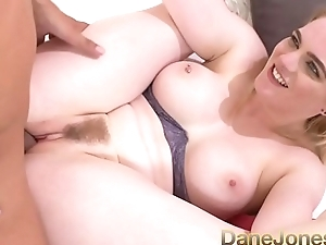 Dane Jones Big tits British blonde Carly Rae eats a fat cock