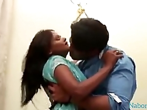 Pre-eminent time Indian Bangla hard sex with cute beau girlfriend named Lucky at Home