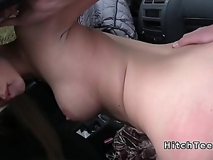 Horny blonde found cock in advance a earn